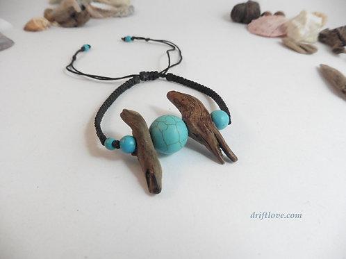 Turquoise Driftwood Bracelet