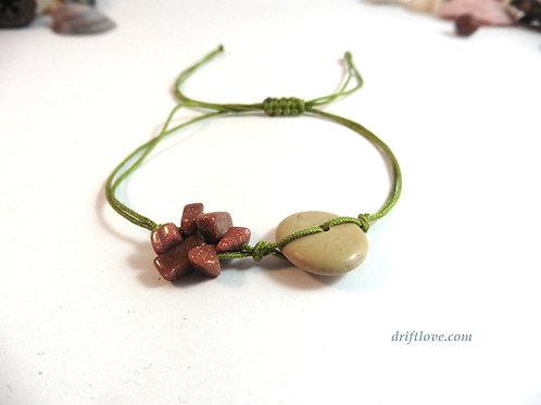 Green Goldstone Healing Bracelet/ Anclet