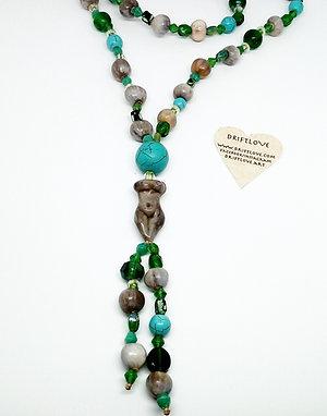 Green Goddess Long Necklace