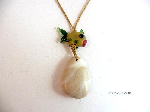 Yellow Fish and Crystal Pebble