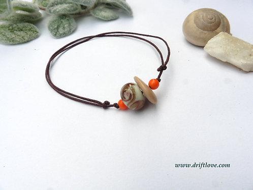 Orange Swirls Bracelet/ Anklet