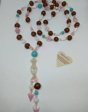 Pink Summer Goddess Long Necklace
