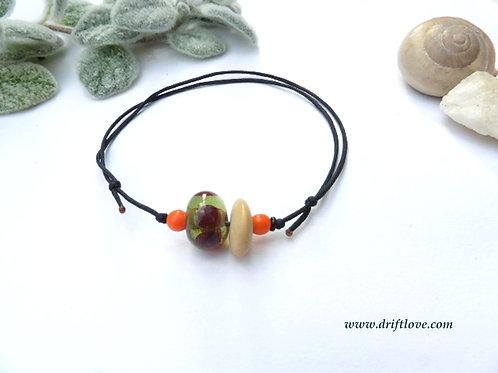 Orange Green Simple Bracelet /Anklet