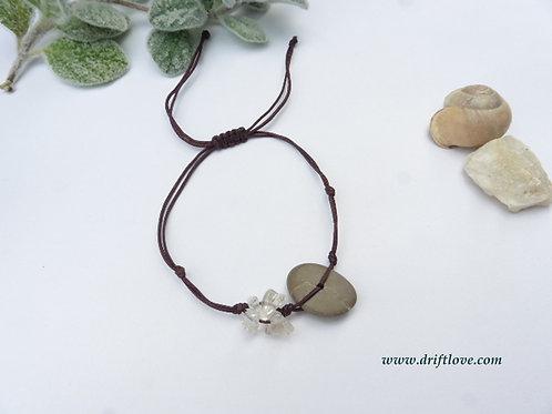 Pebble and Quartz Healing Bracelet/ Anklet