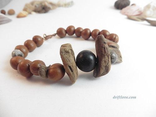 Driftwood and Seeds Bracelet