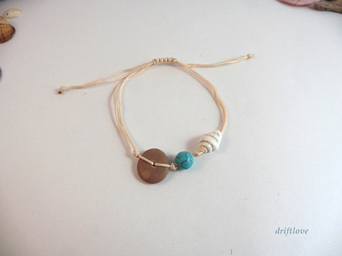 Seashell and Pebble Bracelet