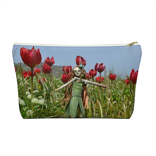 Doll with tulips pouch