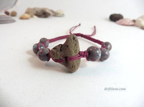 Lila-Red Driftwood Bracelet