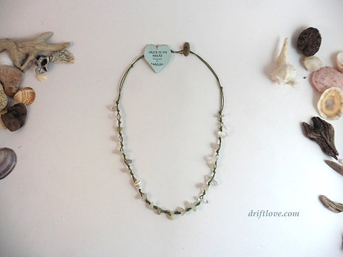 Healing Quartz and Jade Necklace