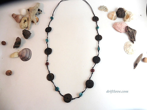 Coco and Porcelain Long Necklace
