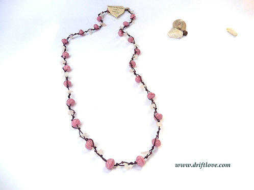 Pink And Rose Quartz Many Beads Necklace