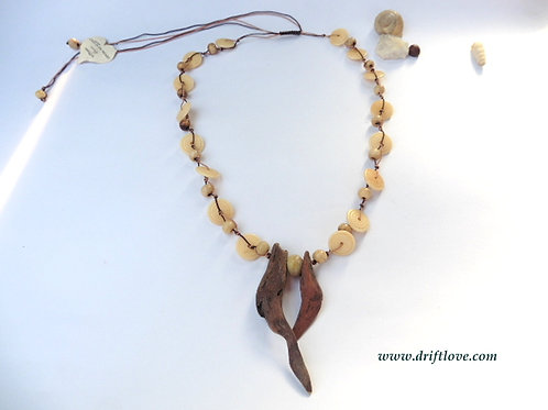 Wood And Bones Necklace