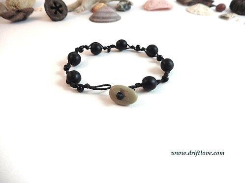 Black Many Beads Bracelet
