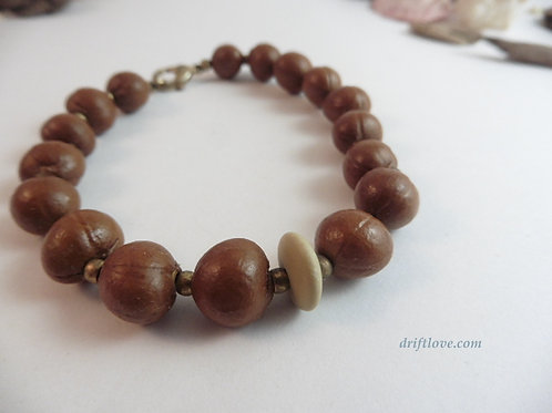 Seeds and Pebble Bracelet