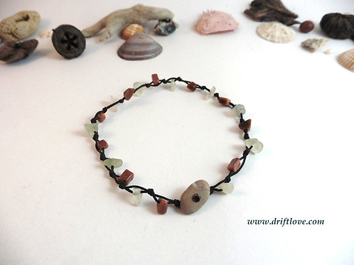 Jade And Goldstone Healing Anclet