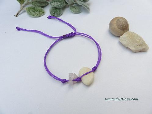 White Pebble Rose Quartz Healing Bracelet/ Anklet