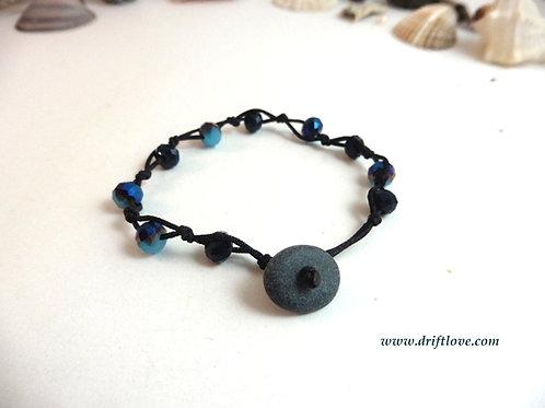 Black and Blue Many Beads Bracelet