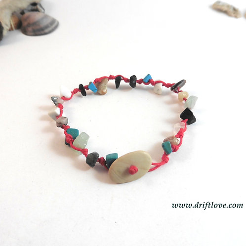 Bright Red Energy Load Healing Bracelet