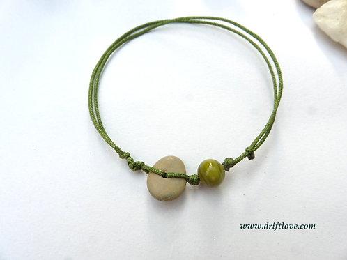 One Green Simple Bracelet /Anklet
