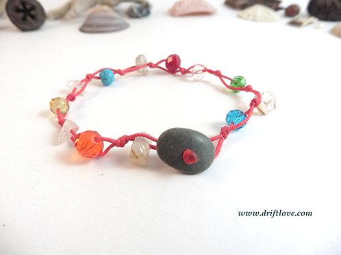 Bright Red Many Beads Bracelet
