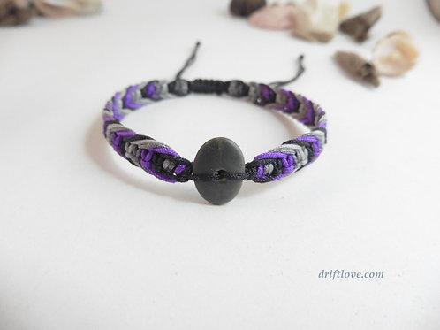 Purple Grey Macramé Bracelet