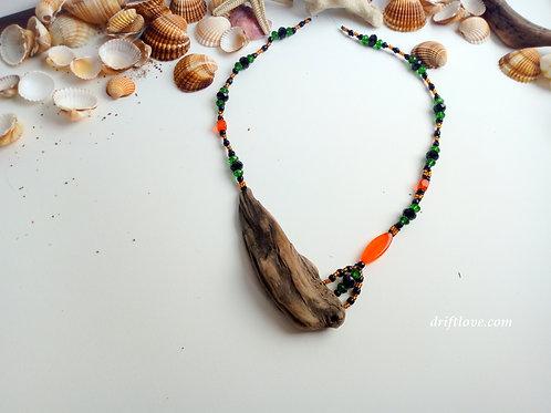 Bright Orange Driftlove Statement Necklace