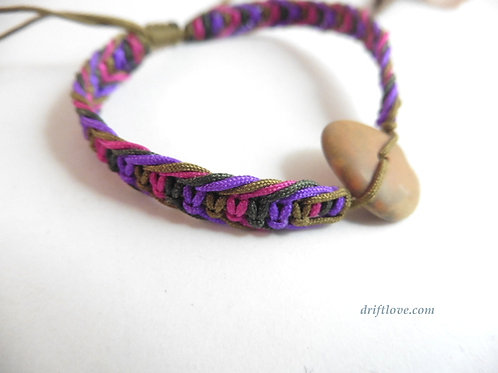 Purple Ground Macramé Bracelet