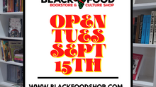 We Re-OPEN September 15th