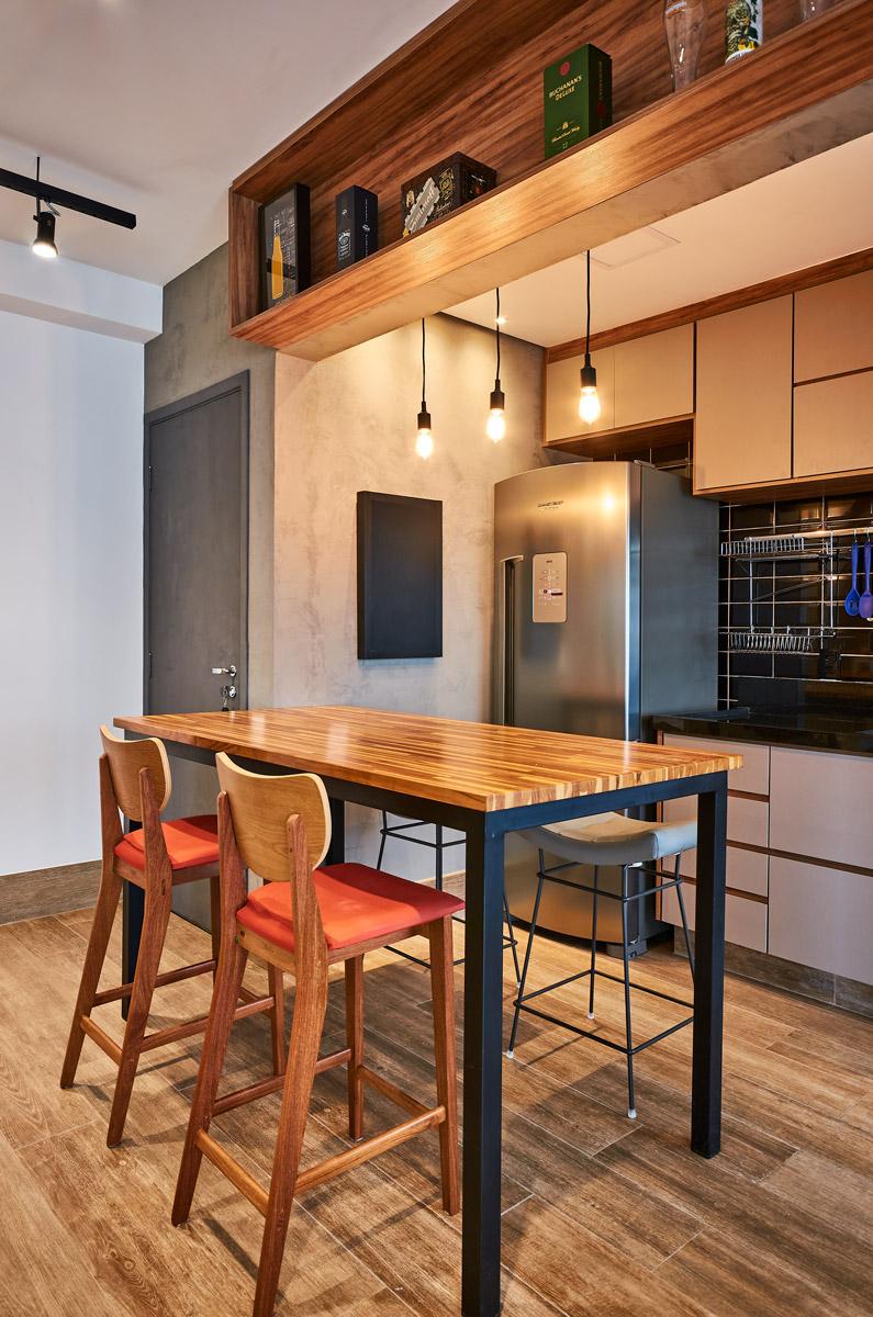 Cozinha Masculina, moderna, Integrada