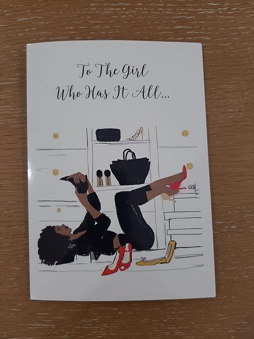 Diva Birthday Greeting Card