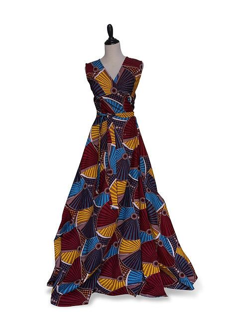 Ankara Wrap Dress