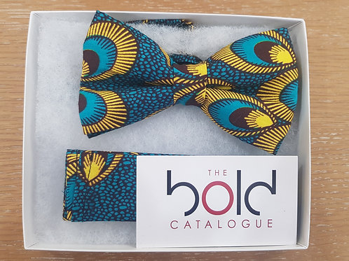 African Print Bow Tie w/ Pocket Square
