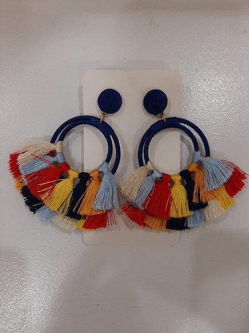 Multicolor Tassel Earrings