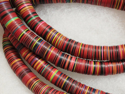 African Disc Beads Necklace
