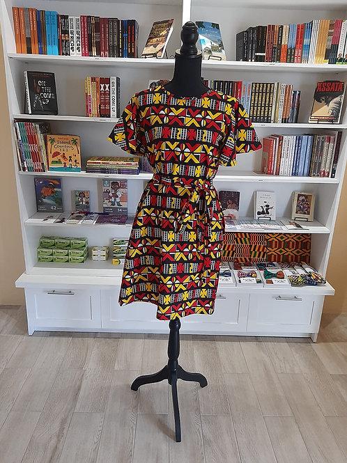Flutter Sleeve Flare Dress