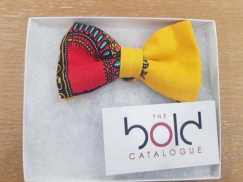 African Print Bow Tie