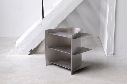 Tension side table stainless steel