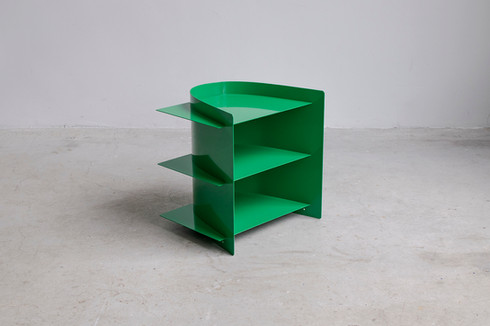 Tension side table coated