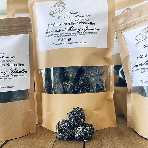 Friandises Bio'Care aux céréales d'Alsace & Spiruline