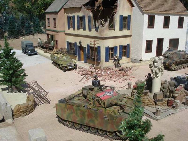 Panzer III in Village Square.JPG