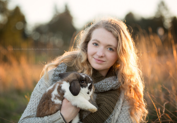Salem, OR Girl with Bunny