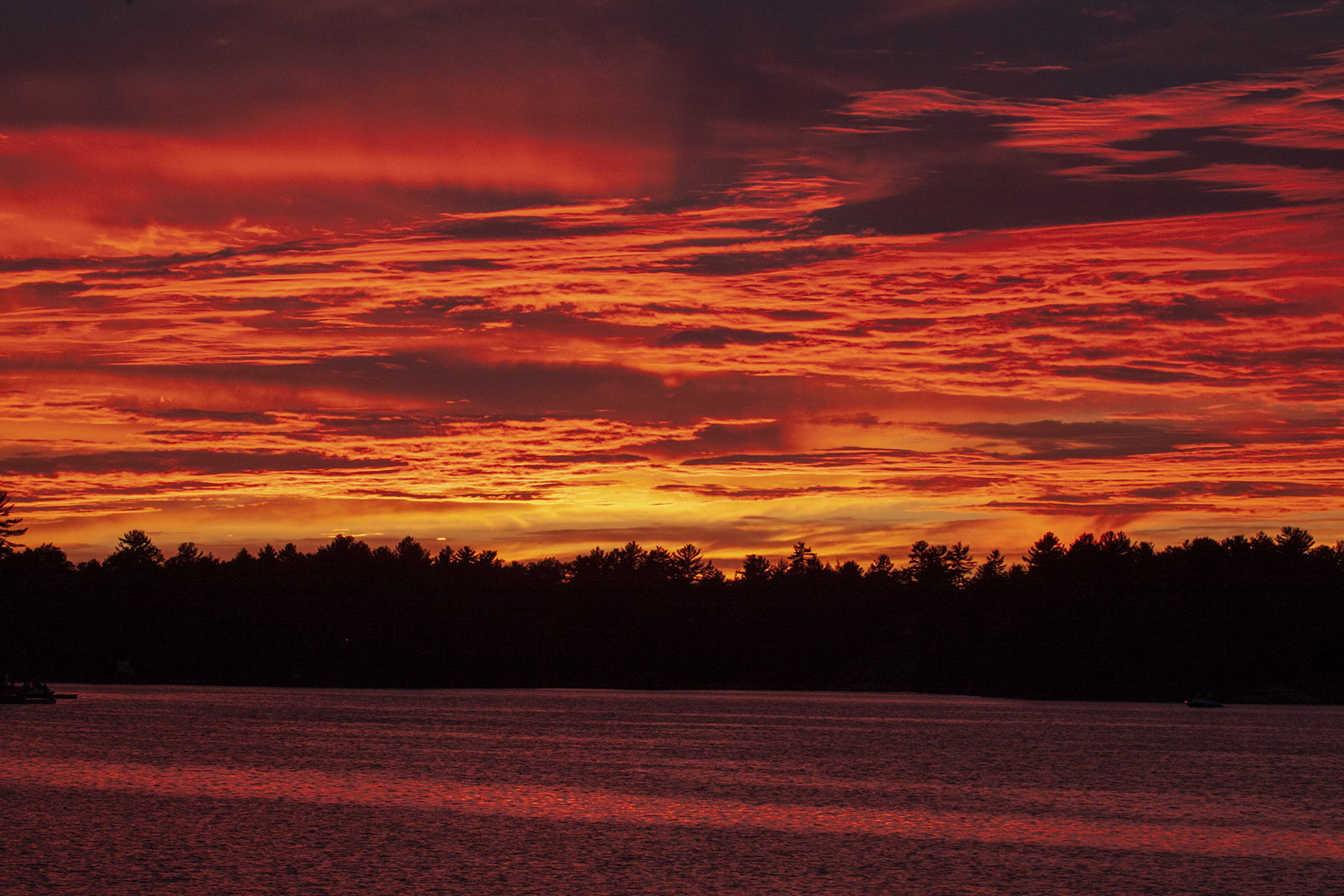 Sunset anchored Deep Bay