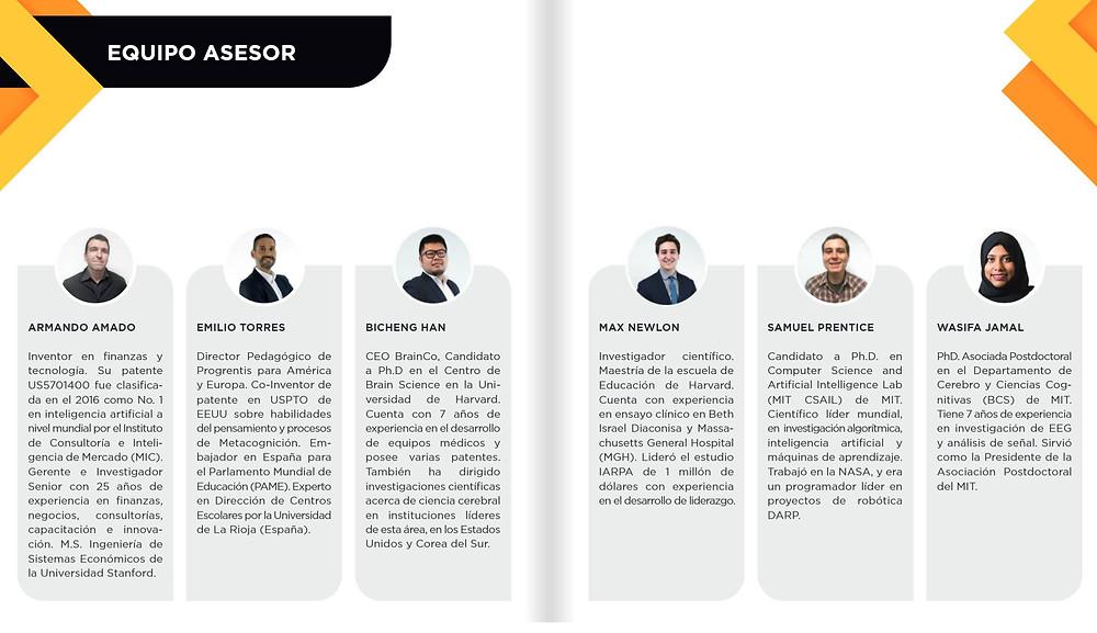 Equipo asesor. Primer estudio neurociencias en iberoamerica: BrainCo Progrentis. Progrentis México