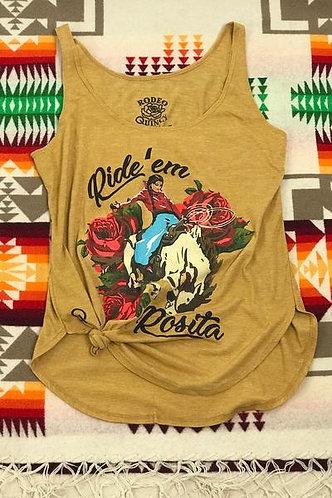 Ride'em Rosita Tank Gold