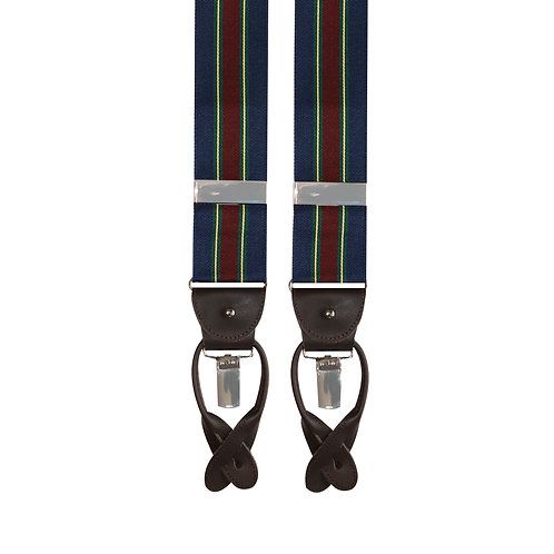 Navy & Burgundy 2in1 Rigid Braces