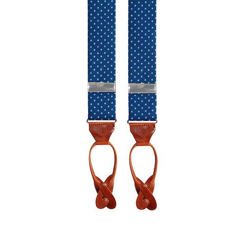 Navy & Sky Blue Shirting Fabric Braces