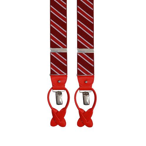Red & Burgendy Stripe 2in1 Elastic Braces