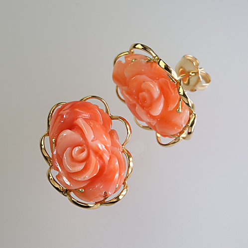 CORAL EARRING 11