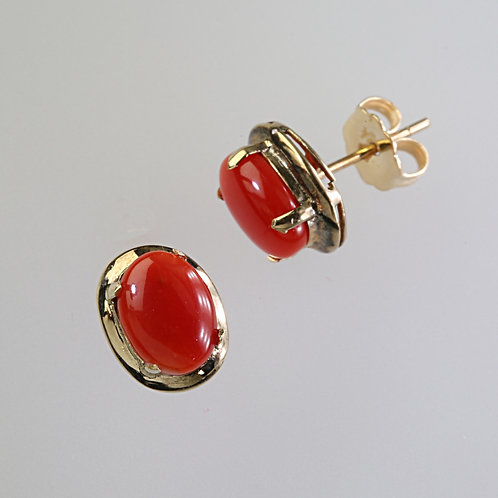 CORAL EARRING 25