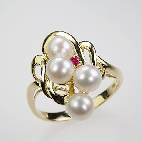 CULTURED PEARL RING 5